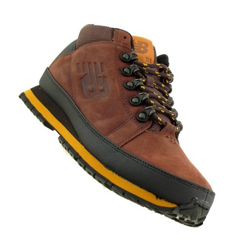 Brown Yellow Balance Trekking New Boots Genuine Brown Leather ZPwBY