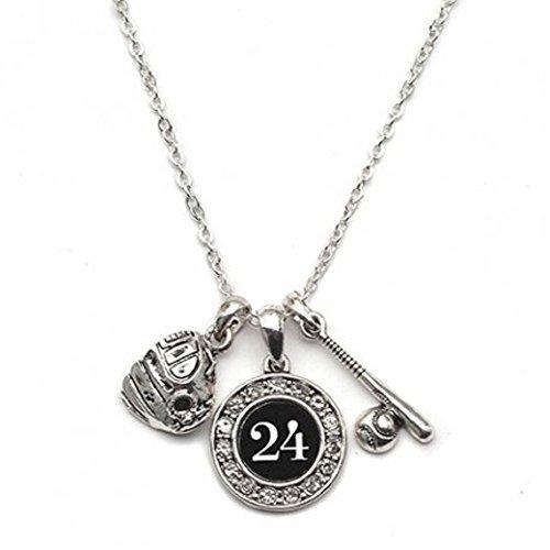 - MadSportsStuff Custom Player ID Softball Necklace (#24, One Size)