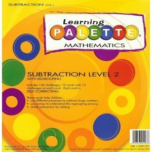 Cards Learning Palette - Learning Wrap-ups 2nd Grade Self Correcting Subtraction Learning Palette