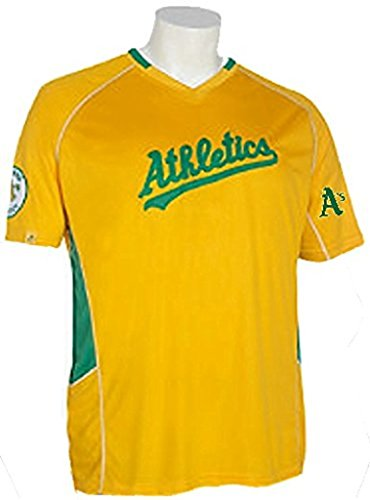 VF Oakland A's MLB Majestic Vintage Mens Champ Jersey Gold Big & Tall Sizes (4XL)