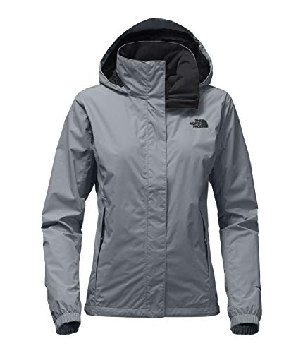The North Face Women's Resolve 2 Jacket - Mid Grey & TNF Black - XXL