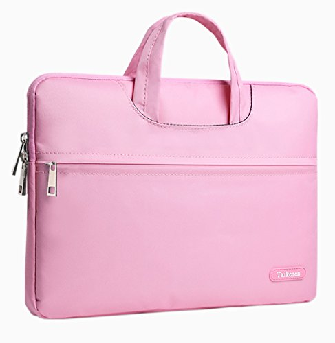 Price comparison product image Free Melody Men Women Portable Notebook Handbag Air Pro 11 12 13 14 15.6 Laptop Bag / Sleeve Case (15.6,  Pink)