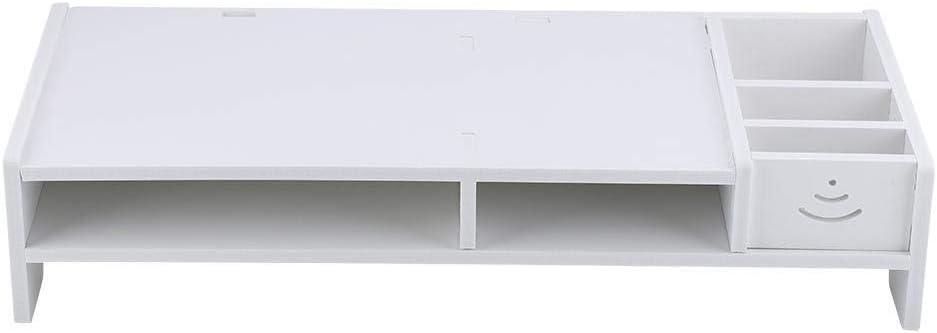 NOBRAND Unibell Monitor Riser PC portátil Soporte de Ministerio del Interior Mesa de Escritorio del Organizador del almacenaje del Estante: Amazon.es: Hogar
