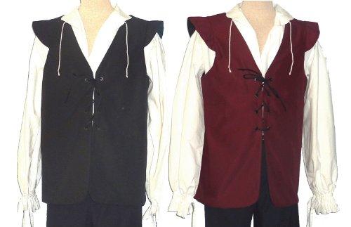 Jerki (Mens Burgundy Pirate Costumes)