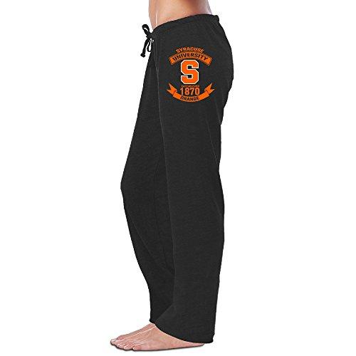 Price comparison product image ElishaJ Women's Syracuse University Football Light Weight Workout Pants Black L