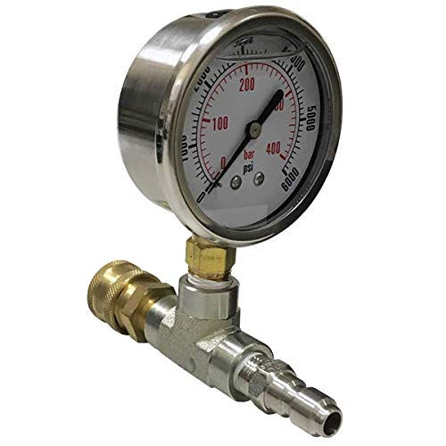 6,000 psi ¼ Pressure Test Gauge by PressureWasher.net