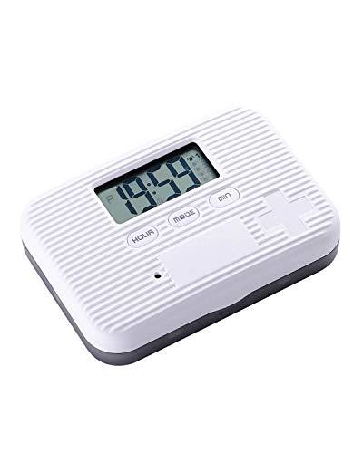 Alarm Pill Box Jusinhel Mini Portable Daily Vitamin/Pills/Medicine Reminder Timer Box Case with Digital Screen - 6 Compartment