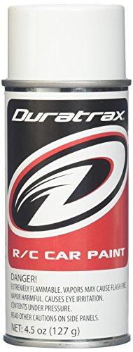 Duratrax Polycarbonate Radio Control Vehicle Body Spray Paint, 4.5 Ounces, Bright White
