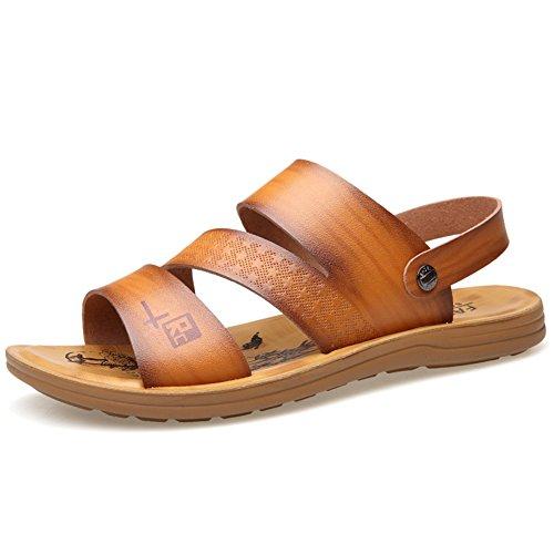 f225714e6dde Plage Hommes Conduite Chaussures Kaki Sandales Jaune Mocassins En  Microfibre ons C Occasionnels Slip Pour De Et Marron D'été Sn7qn1