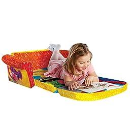 Marshmallow Furniture, Children\'s Upholstered 2 in 1 Flip Open Sofa, Sesame Street\'s Elmo/Sesame, by Spin Master