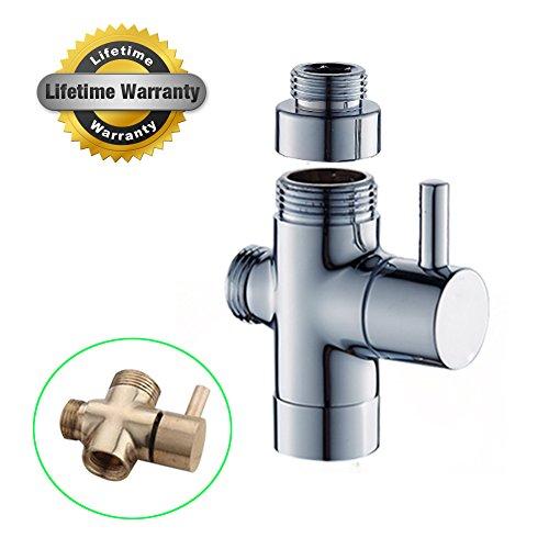 Brushed Diverters (HOMEDEN Shower Arm Diverter for Hand Shower Chrome Solid Brass Brushed Chrome(Shower Arm Diverter))