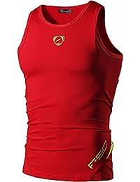 jeansian Men's Sport Quick Dry Sleeveless Tees Vests Tank Tops Shirt LSL3306