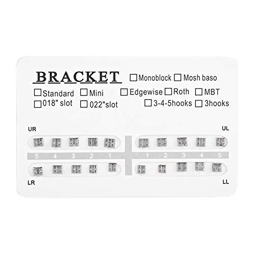 Dental Orthodontics Brackets Braces - 10 Packs Metal Dental Teeth Orthodontics Brackets, Braces Mini Without Hook]()