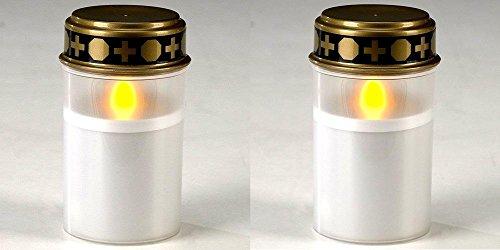 2er Set LED Grabkerze | Batteriebetrieben | LED Grablicht | LED Grablampe