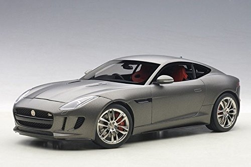 Jaguar E-type Coupe - 2015 Jaguar F-Type R Coupe Matt Grey 1/18 by Autoart 73654