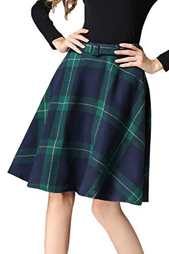 Hiver S Vert Femmes Haute Imprimer De Tartan Taille Jupe Patineuse Jupe 40 Plaid 7wwZ4zqp