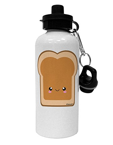 TooLoud Cute Matching Design - PB and J - Peanut Butter Aluminum 600ml Water Bottle - White