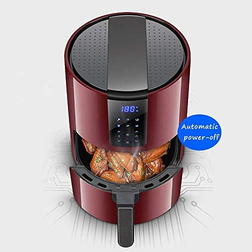 Airfryer Compact Minder Frituurpannen Air Fryer weinig of geen olie Gezonde fornuis met Digital LCD-scherm digitale Touchscreen, luchtcirculatie Safety Handle 1400W