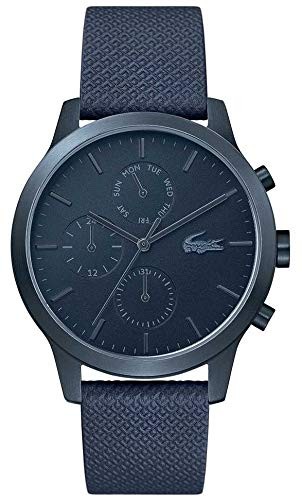 Price comparison product image Lacoste / Mens 12-12 / Blue Leather Strap / Blue Dial / 2010998