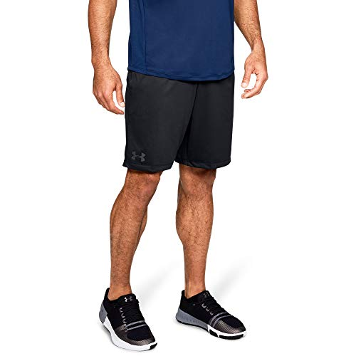 Under Armour Men's MK1 Shorts, Black (001)/Stealth Gray, Large