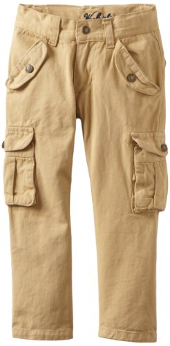 Woolrich Little Boys' Twill Cargo Pant, Brown, 5