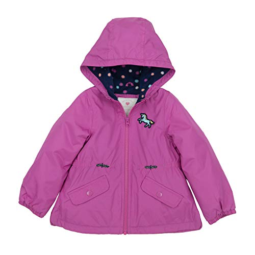 Carters Purple Fleece - Carter's Girls' Toddler Midweight Fleece Lined Anorak Jacket, Summer Orchid Purple, 3T