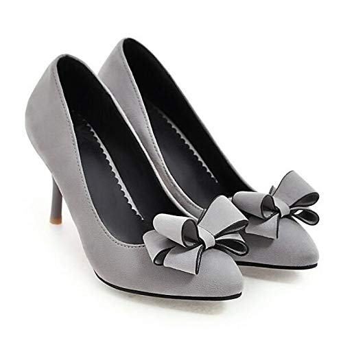 Basic Gray Mujer Red Spring PU de Stiletto ZHZNVX Tacones Poliuretano Black Black Zapatos Pump Heel wSqHWxY