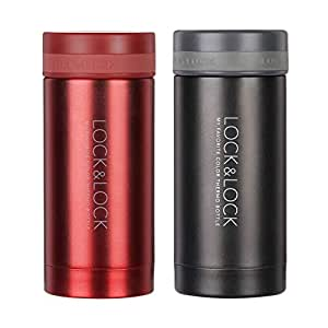 JXSHQS Thermos Cup Men and Women Portable Cup Student Stainless Steel Mini Cup Compact and Simple Cold Cup Insulation Cup (Color : Browen)