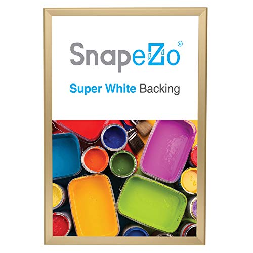 SnapeZo Poster Frame 20x30 Inches, Gold 1.25 Inch Aluminum Profile, Front-Loading Snap Frame, Wall Mounting, Professional Series (Gold Solid Madam)