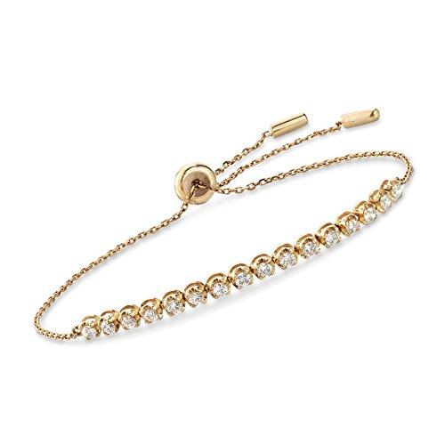 Ross-Simons 0.51 ct. t.w. Diamond Bolo Bracelet in 14kt Yellow Gold