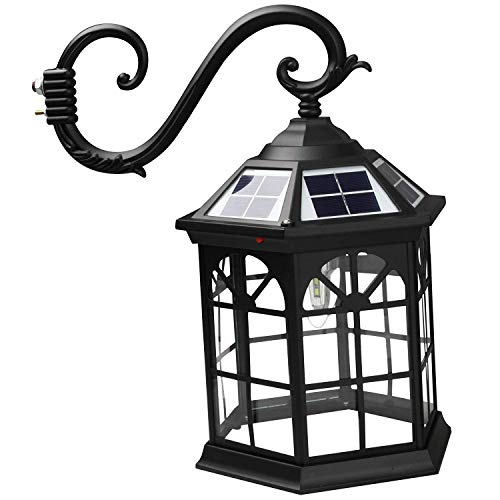 Kendal 8 Feet High Outdoor Solar Lamp Post Light with Two Heads and LED Lights SL-3801black2.45M by Kendal (Image #3)