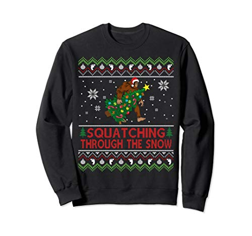 Bigfoot Christmas Sweater Shirt Bigfoot Costume Decorations ()