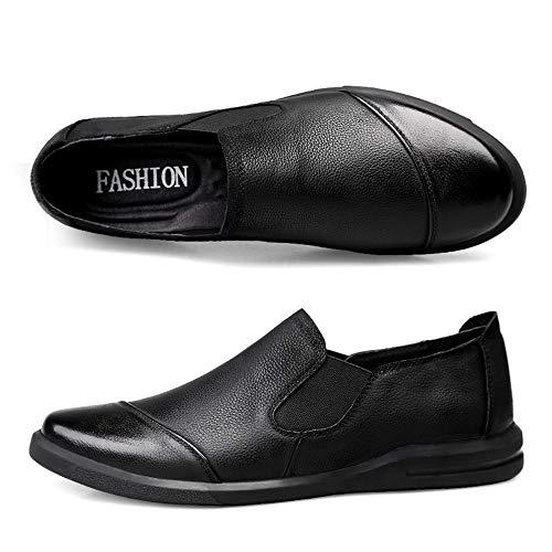 Casual Bean En Glossy chaussures Business Matte Semelle Chaussures Cuir Black Black color Couleur Hommes Mocassins Eu Unie Mocassins Pour Souple De Cricket Taille 40 ITvqqPwt