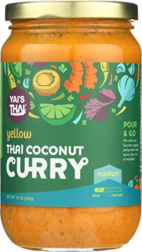 Yai's Thai Yellow Coconut Curry Sauce 16 Ounce Jar
