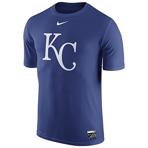 Mlb Short Nike Shirt Sleeve (NIKE Men's Royals MLB AC LGD 15 T-Shirt Royal Blue Size XX-Large)