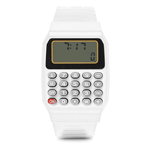 Tanqifo Fashion Child Kid Silicone Date Multi-Purpose Electronic Calculator Wrist (Demo Keypad)
