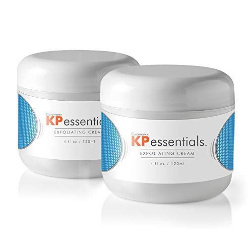 KP Essentials - Keratosis Pilaris Exfoliating Cream - Clear Red Bumps on Thighs and Arms For Confident Clear Skin (2 Bottles)