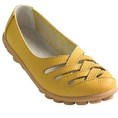 ballerina Kunsto Scarpe Flats Donna giallo giallo da RUU1vOnxq