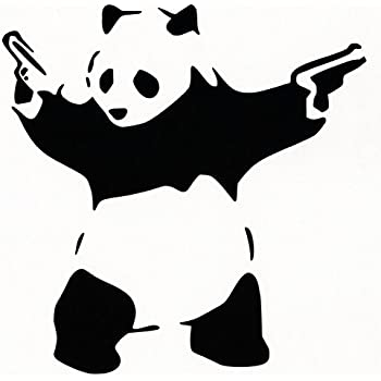 Amazoncom Shooting Panda Car Vinyl Decal Sticker WHITE - Cool vinyl decal stickers