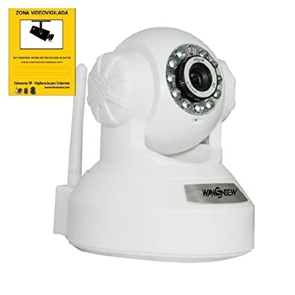 WANSVIEW NCL-610W IP CAMARA WIFI MOTORIZADA VISION NOCTURNA VIDEO VIGILANCIA COLOR BLANCO BLANCA