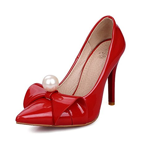 Agoolar Stylet Femme Chaussures Pointu L Tire Unie Couleur 7z7wrq