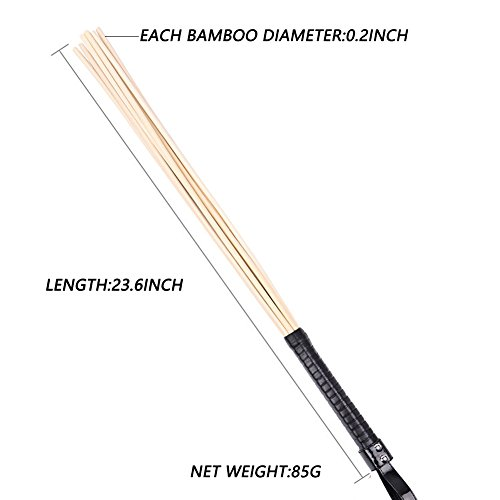 Horse Riding Crop,2m² Natural Elastic Tough Bamboo Style Crops Teaching Training Tool