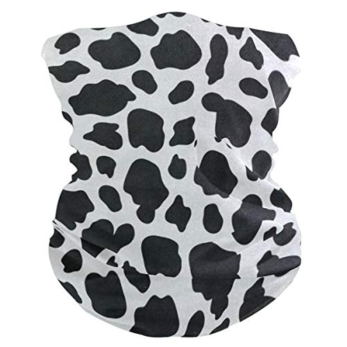 Funny Cow Print Headband Womens Bandana Mens Balaclava,Neck Warmer,Face Mask,Helmet Liner Facemask