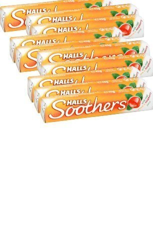 Soother Lozenges - Halls Soothers Lozenges Peach & Raspberry OF 10 by HALLS
