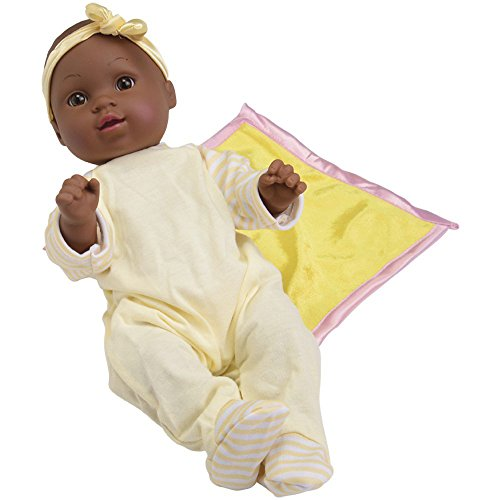 CP Toys African-American Baby Tender Touch Doll with 4 Pc (Touch Vinyl Doll)
