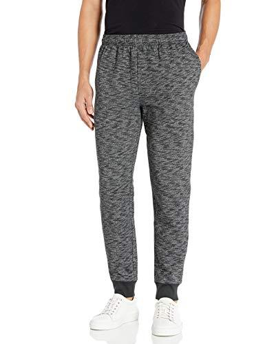Amazon Essentials Men's Fleece Jogger Pant, Charcoal Space-Dye, Large