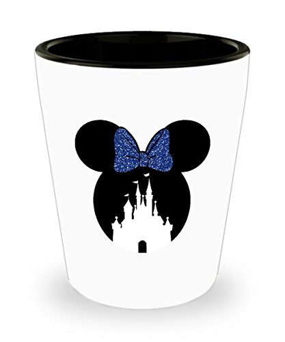 Happiest Castle Shot Glass Gift Mouse Ears Magic Blue Bow