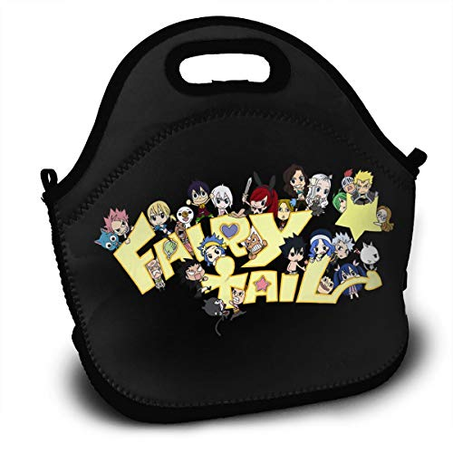 Fairy Tail Fans Polyester Lunch Bag Stylish Lunch Box for Work School