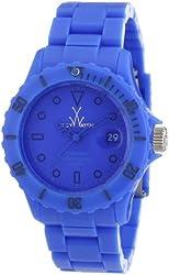 ToyWatch Monochrome Watch MO03LB Light Blue Plasteramic, Date, Rotating Bezel