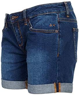 SUN 68 Luxury Fashion Femme B3020307 Bleu Coton Shorts | Printemps-été 20